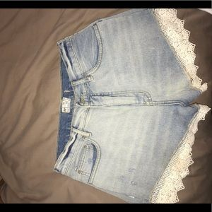 Free people lace detailed shorts